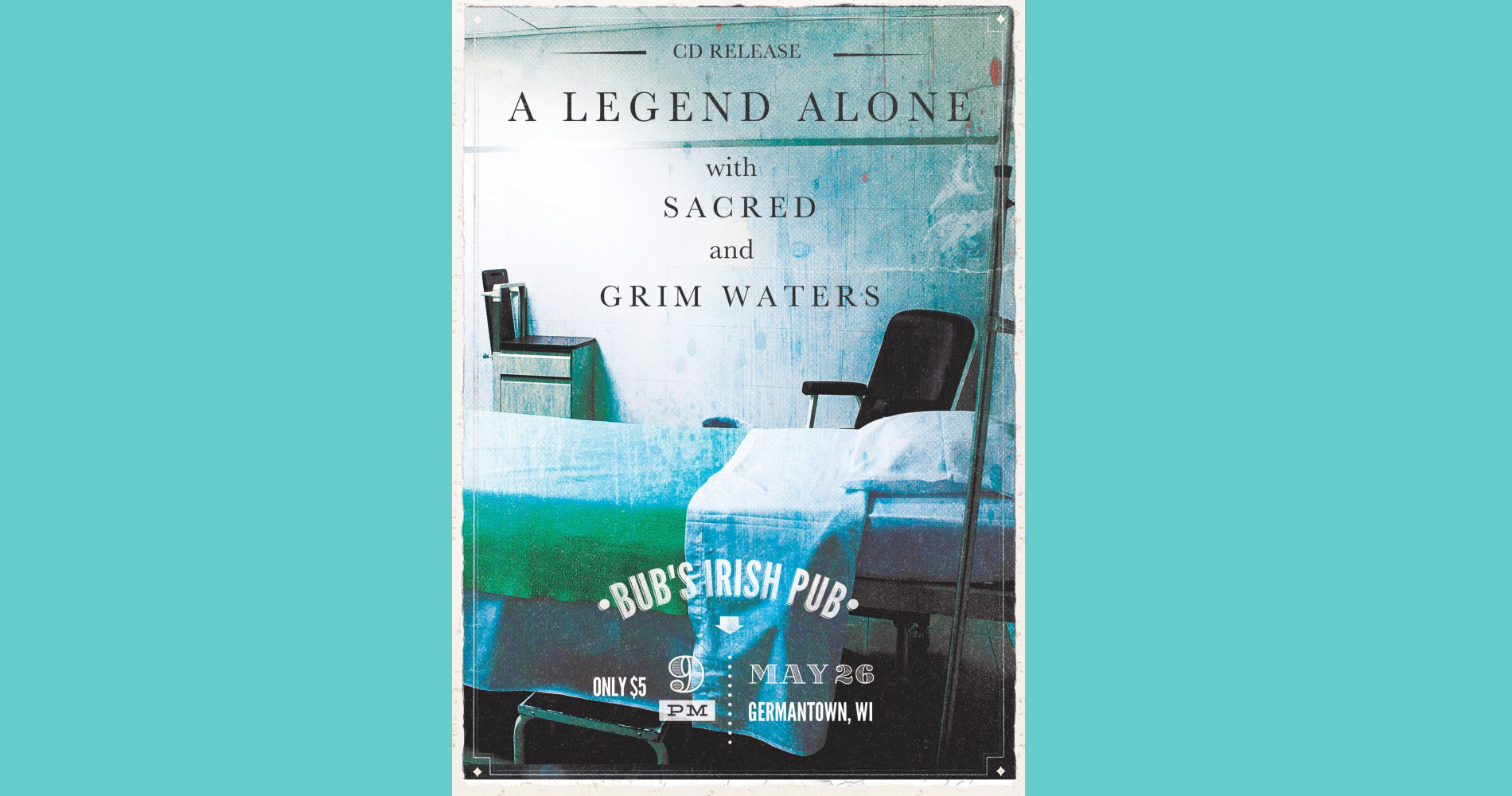 Grim Waters, Sacred & A Legend Alone